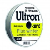 Леска ULTRON Fluo Winter 0,28 мм, 8,5 кг, 30 м, флуоресцентная